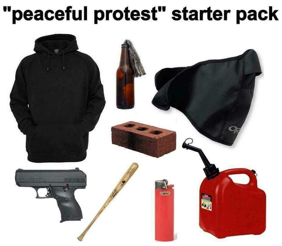 Peaceful Protest Starting Pack | Starter Packs | Know Your Meme