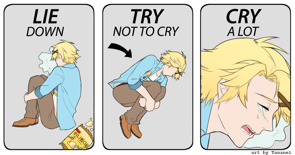 yoosung lie down try not to cry cry a lot lie down try not to