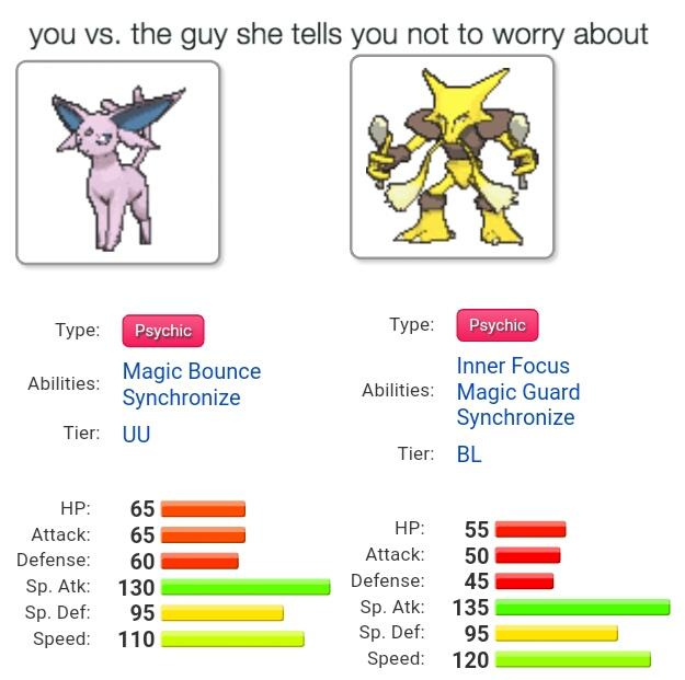 alakazam vs espeon pokémon sun and moon know your meme