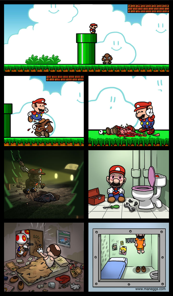 Realistic Mario Video Game Logic Know Your Meme