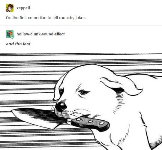 puppy with a knife tumblr know your meme
