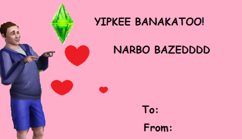 Valentines Day E Cards Sims E Card