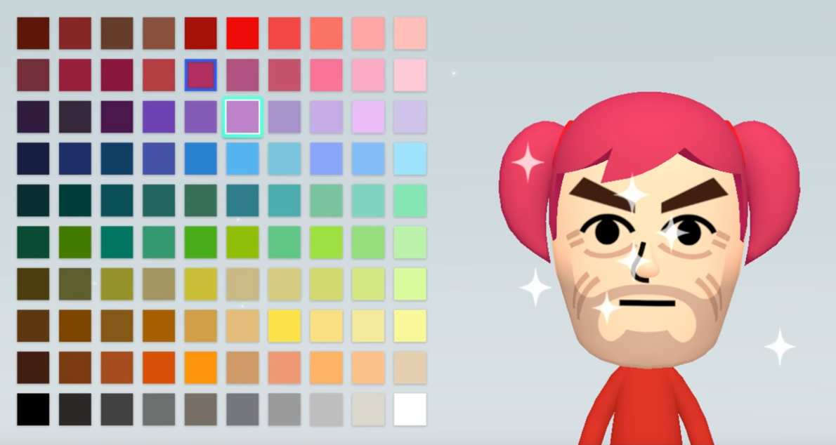 Miis Have More Hair Color Options To Choose From On Switch