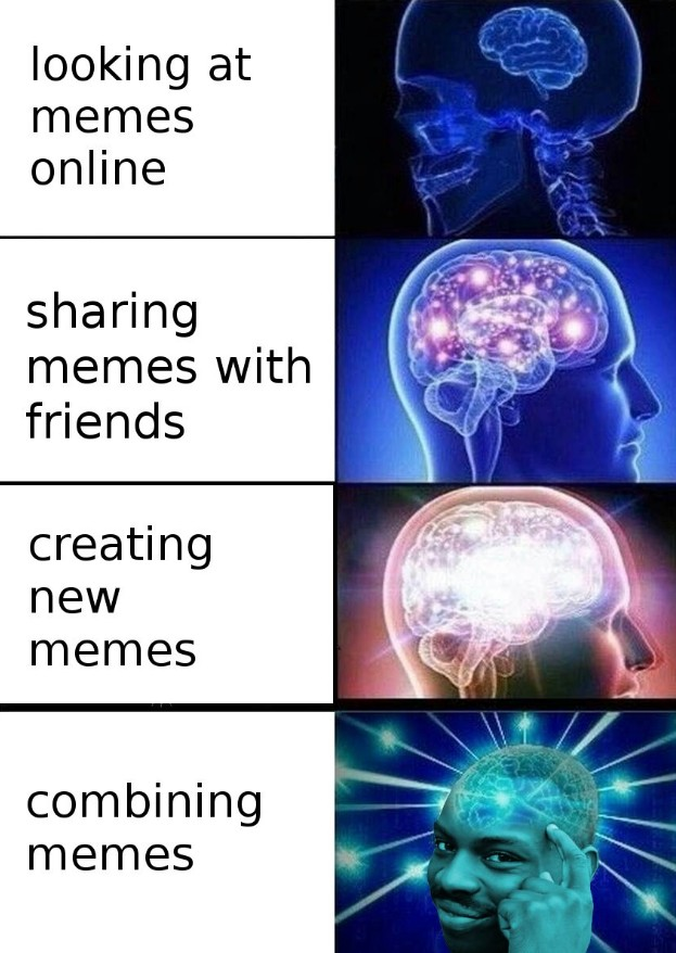 9cd types of memers expanding brain know your meme