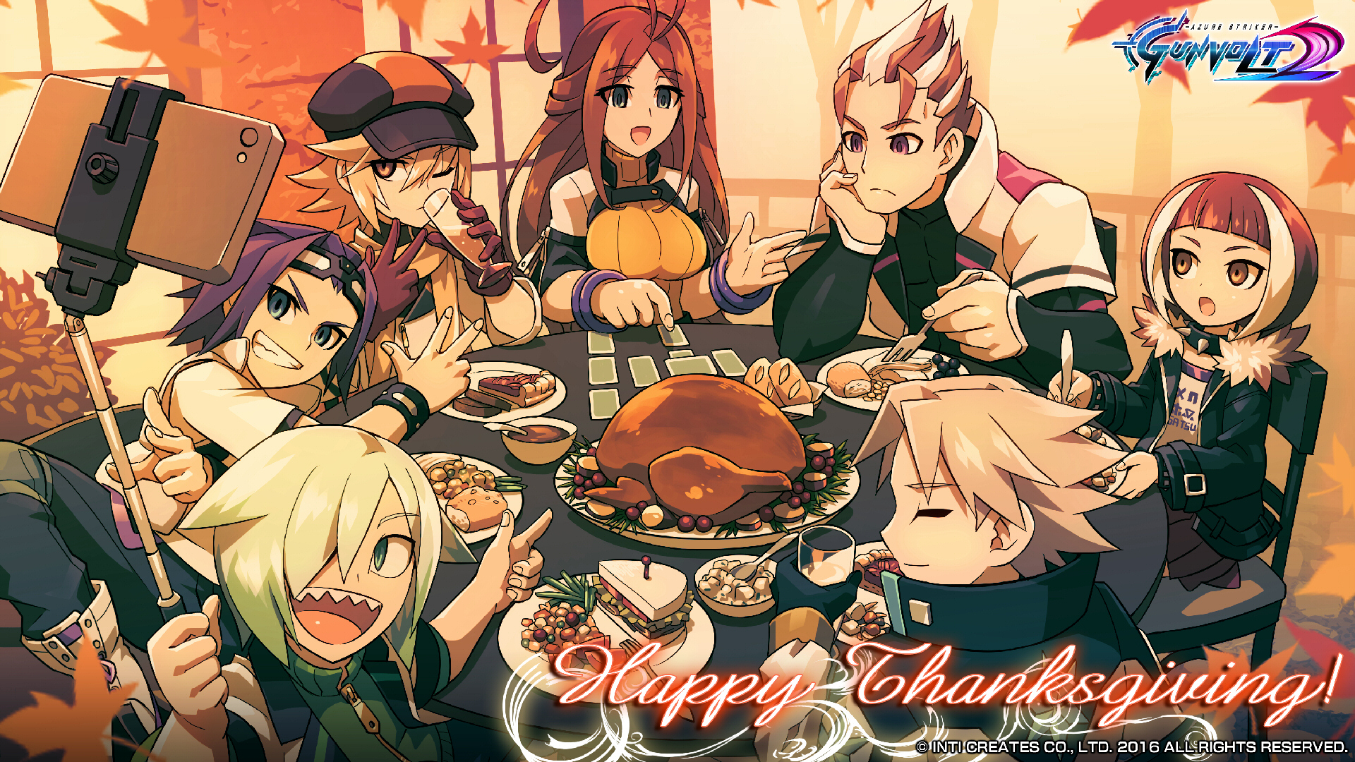 Thanksgiving Wallpaper Azure Striker Gunvolt Know Your Meme