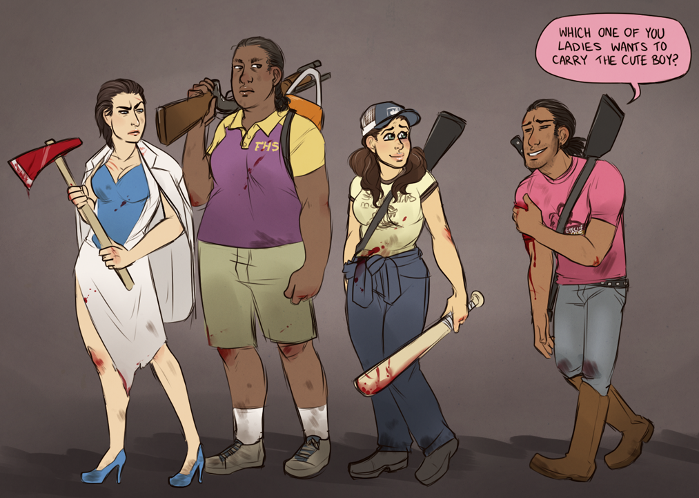 Left 4 Dead art (by Laddy Moss) | Rule 63 | Know Your Meme