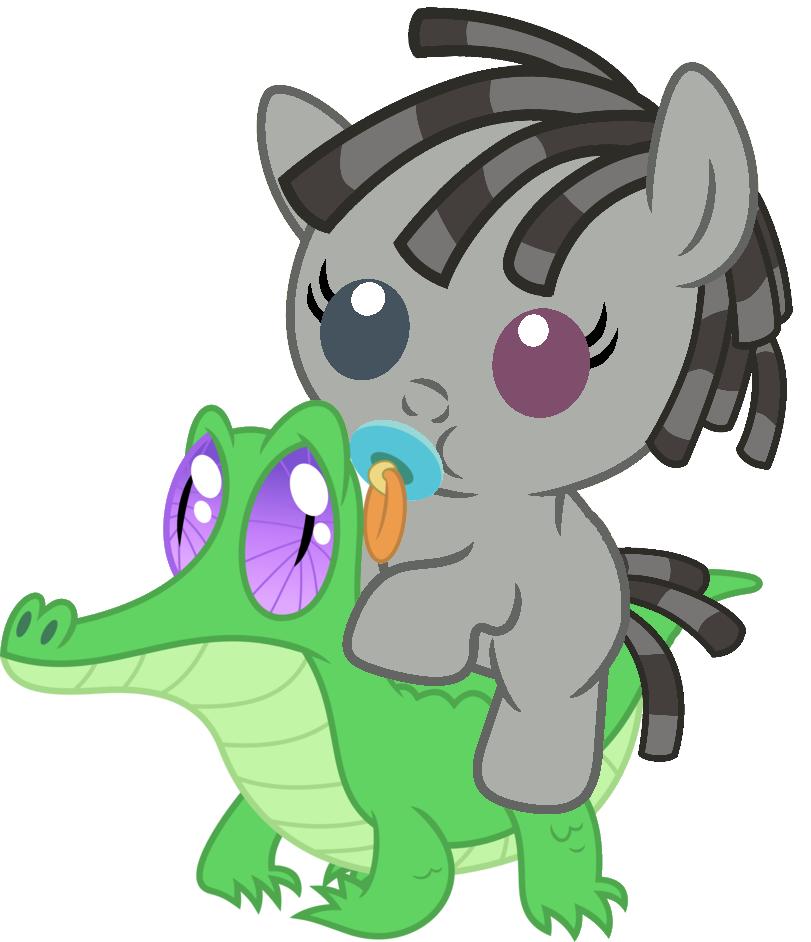 Smarty Pants (Pony form) riding Gummy | My Little Pony: Friendship