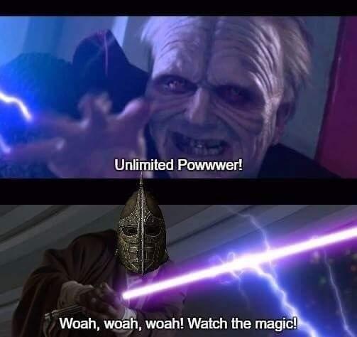 Emperor Palpatine vs  Skyrim Guard | Star Wars | Know Your Meme