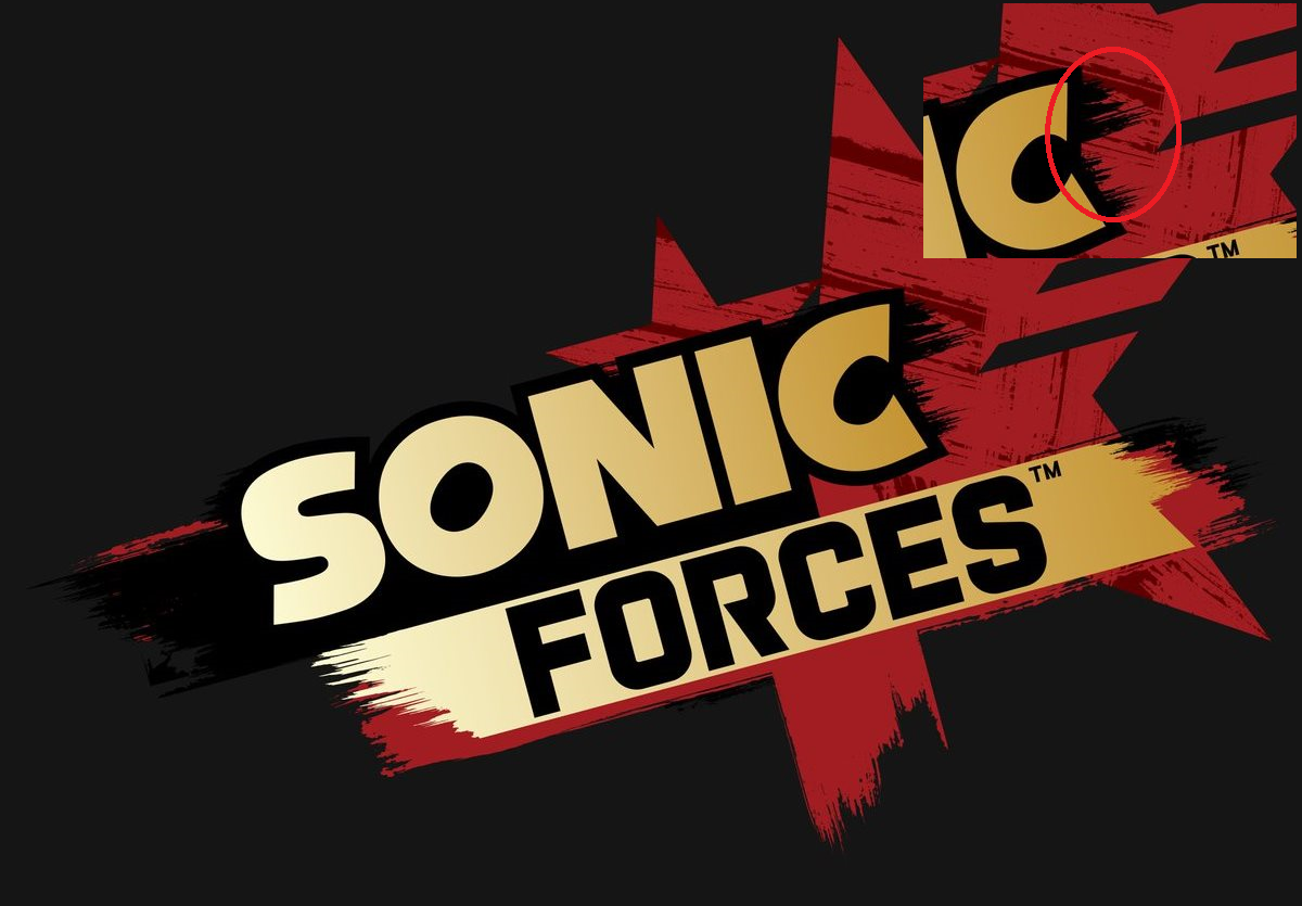 Sonic Forces Logo Has An Enigmatic Face Sonic The Hedgehog Know Your Meme