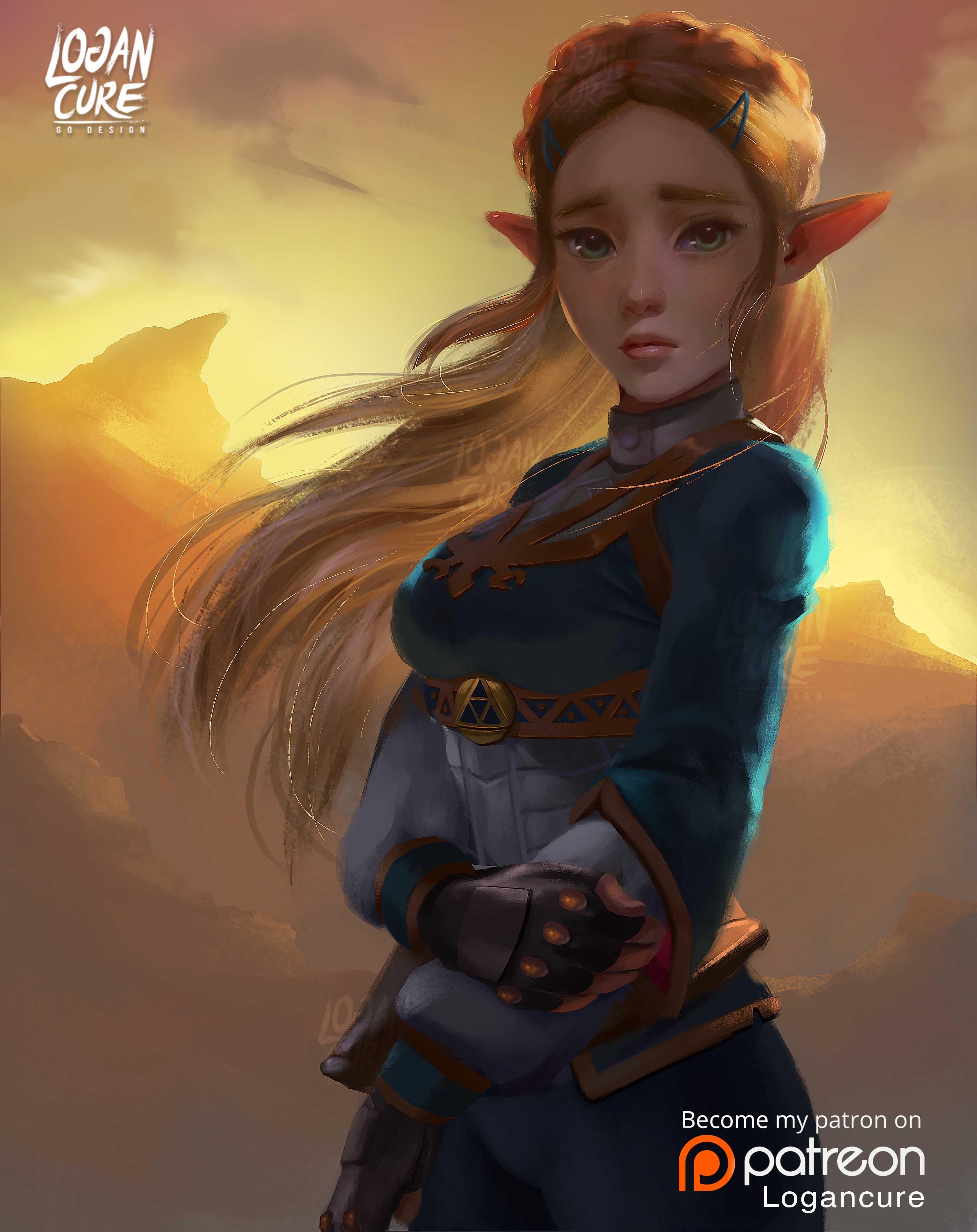 Princess Zelda Botw The Legend Of Zelda Breath Of The Wild