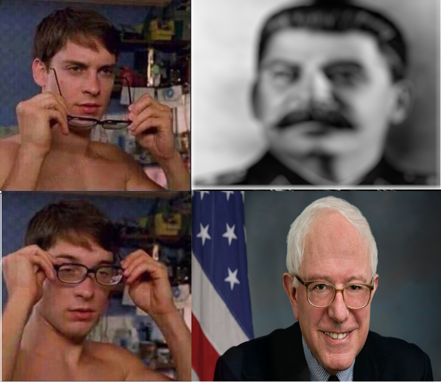 Joseph Stalin Vs Bernie Sanders Peter Parkers Glasses