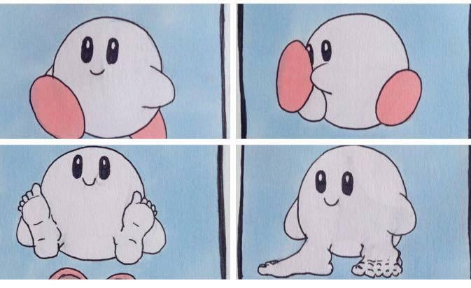 b1d kirby takes off his shoes kirby know your meme