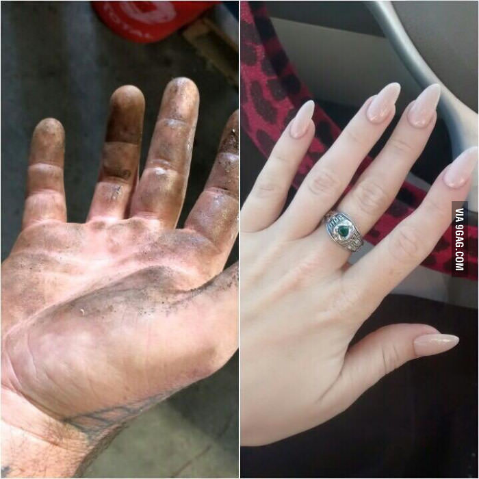 9gag post | My Hands Look Like This | Know Your Meme