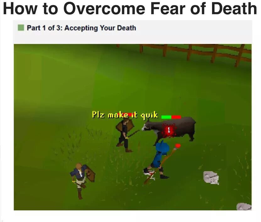 Accepting Your Death Runescape Know Your Meme