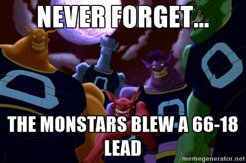 The Monstars Blew A 66 18 Lead Space Jam Know Your Meme