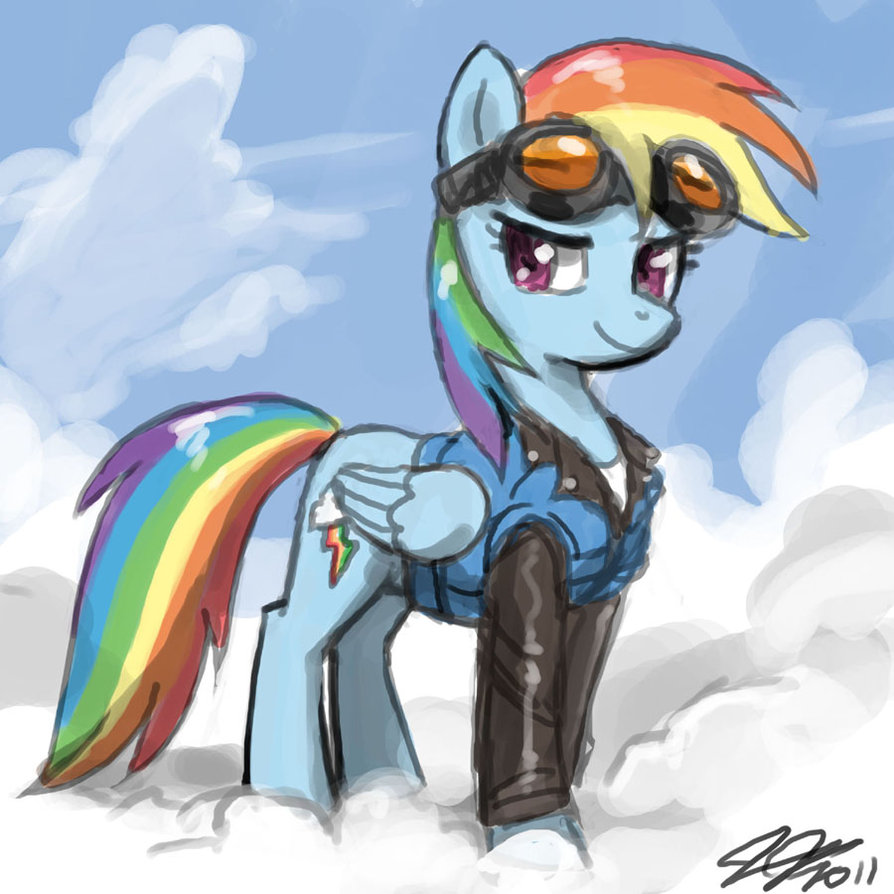 Rainbow Dash In A Cool Suite My Little Pony Friendship Is Magic
