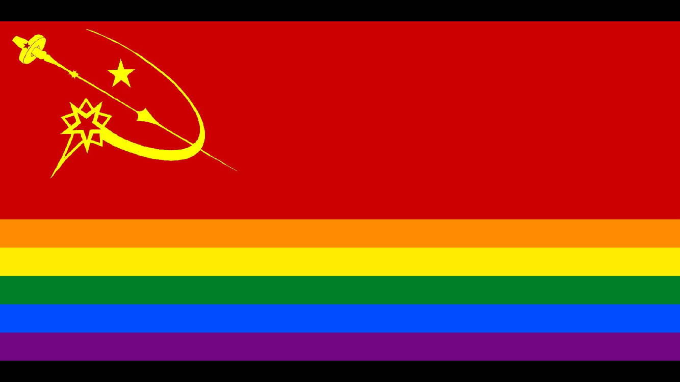 Fully Automated Luxury Gay Space Communism Flag Fully Automated