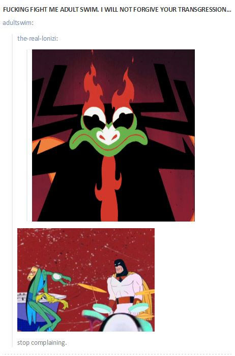 Adult Swim Tumblr Reacting To Fan Rage About Samurai Jack Samurai
