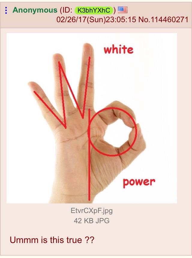 White Power Ok Symbol Know Your Meme