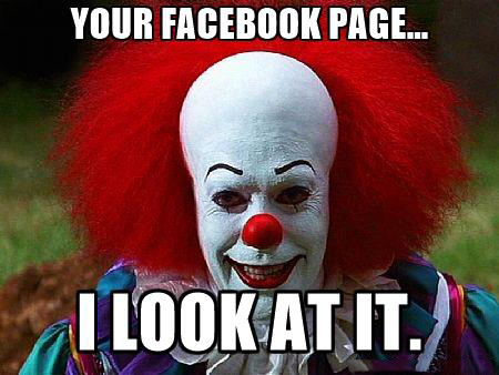 be9 your facebook page pennywise the clown know your meme