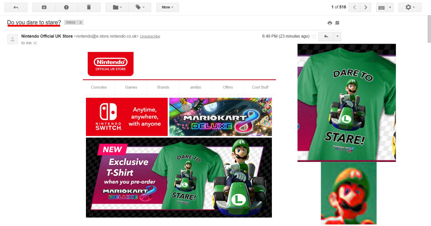 Official Death Stare Merchandise Luigi S Death Stare