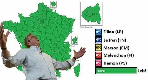 Jeb Wins It All 2017 French Presidential Election Know Your Meme