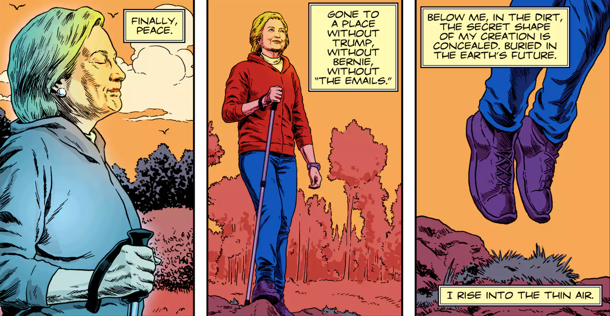 off she goes hillary clinton watchmen comic know your meme