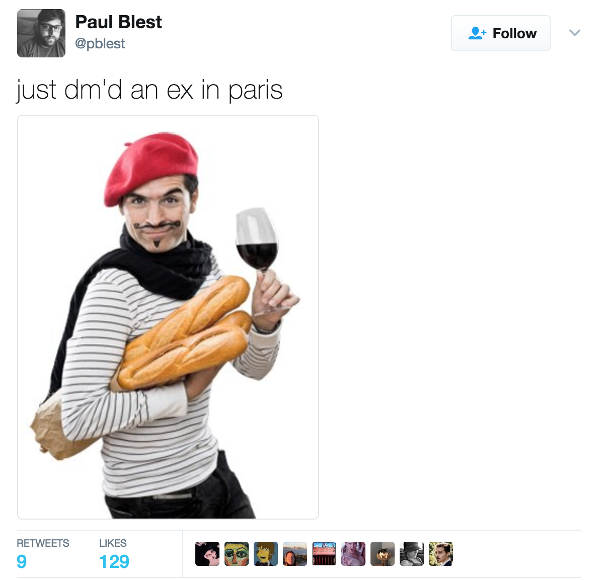 Sexy French Man   DM'd An Ex In Paris   Know Your Meme