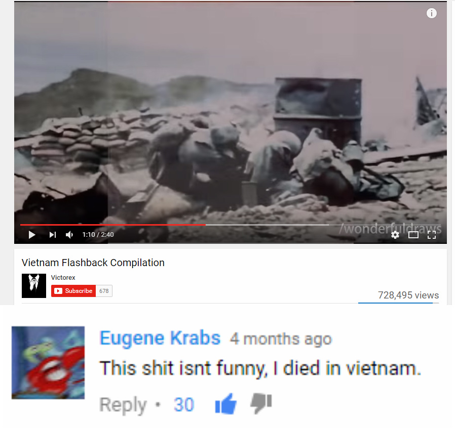 Image of: Funny Memes 110 240 Vietnam Flashback Compilation Victorex Subscribe 678 728495 Views Eugene Meme This Shit Isnt Funny Died In Vietnam Youtube Know Your Meme