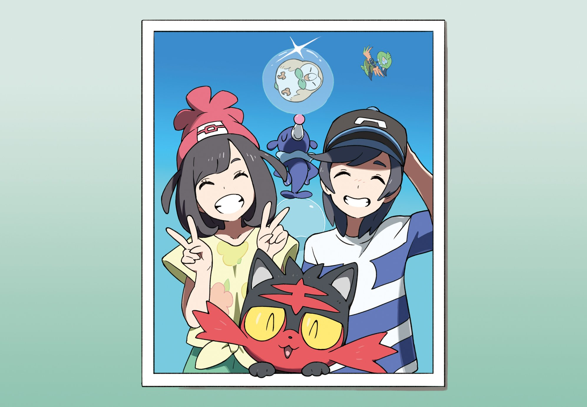 protagonists with starters pokémon sun and moon know your meme