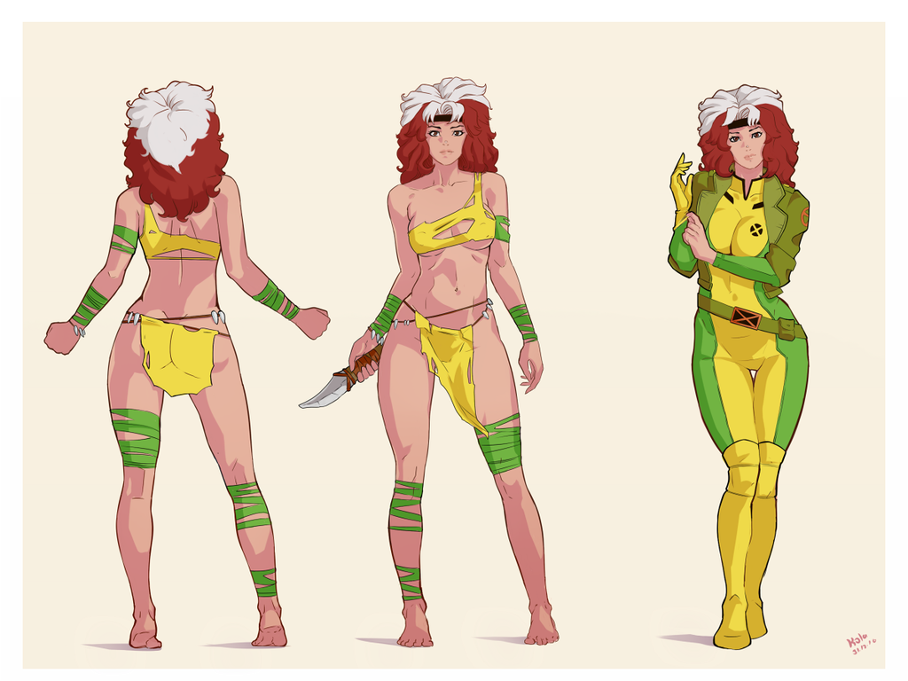 Rogue yellow fictional character cartoon & Rogue + Savage Land outfit | X-Men | Know Your Meme