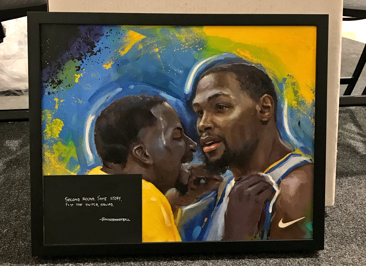 Second round same story kevin durant golden state warriors art painting
