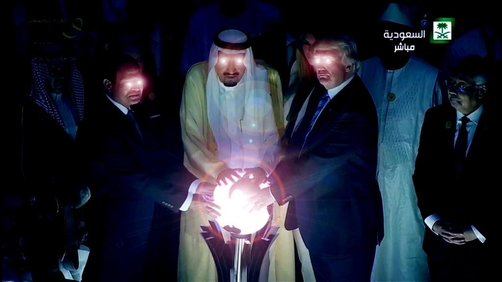 Glowing Eyes Photoshop Donald Trumps Glowing Orb Know Your Meme