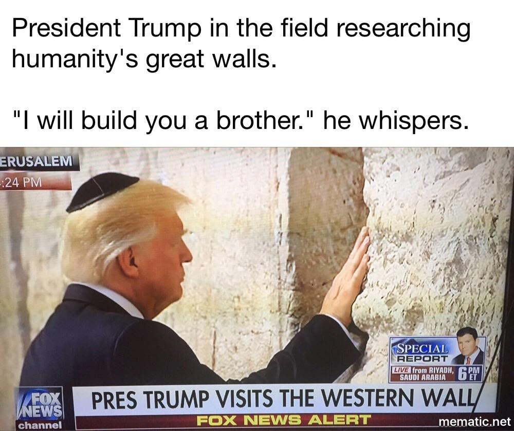 f78 lmao donald trump's wall know your meme
