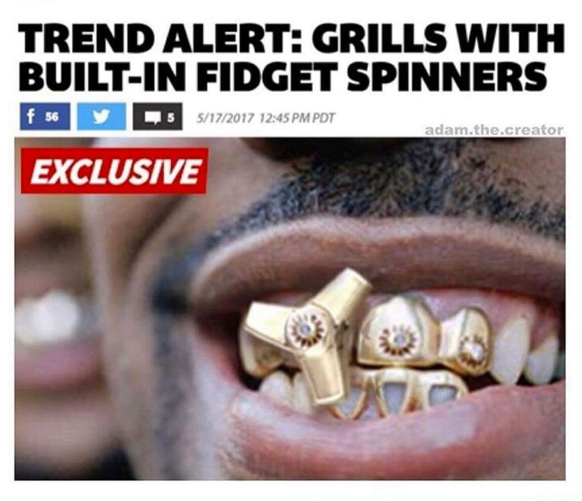 trend alert grills with built in fidget spinners fidget spinners
