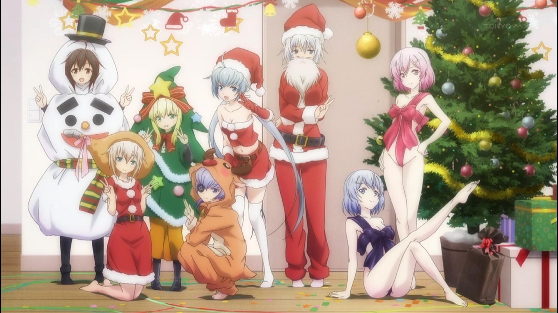 Frame Arms Girls (now human) at the christmas party   Anime / Manga ...