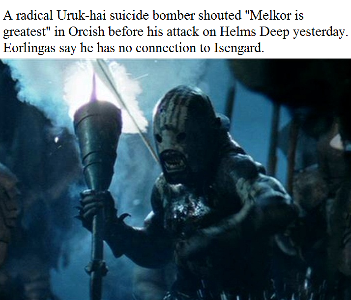 uruk hai suicide bomber orcposting know your meme uruk hai suicide bomber orcposting