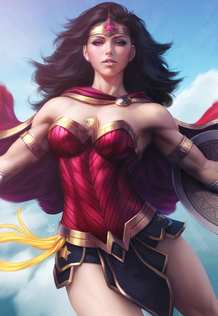 Wonder Woman Descend By Artgerm Wonder Woman Know Your Meme