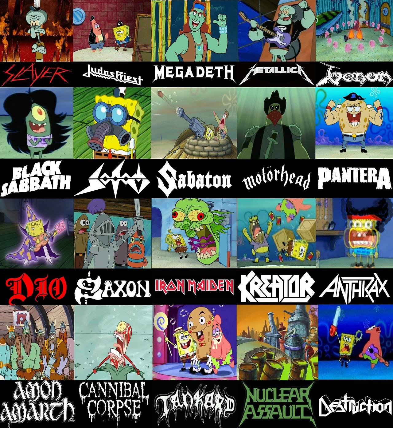 Spongebob As Metal Bands Spongebob Comparison Charts Know Your