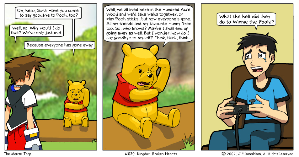 Kingdom Hearts Winnie the Pooh what happened comic