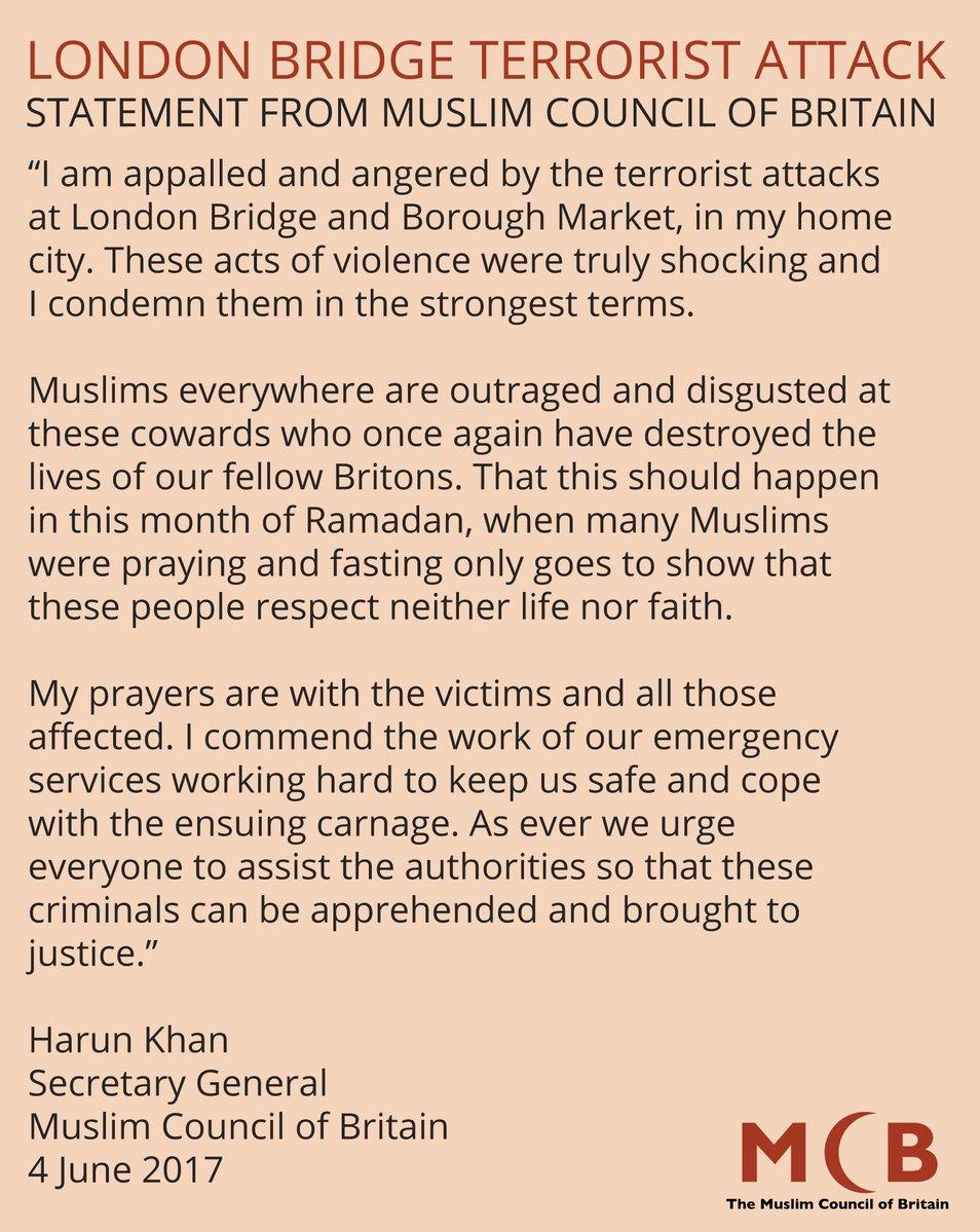 2017 london attack muslim council of britain condemns attacks