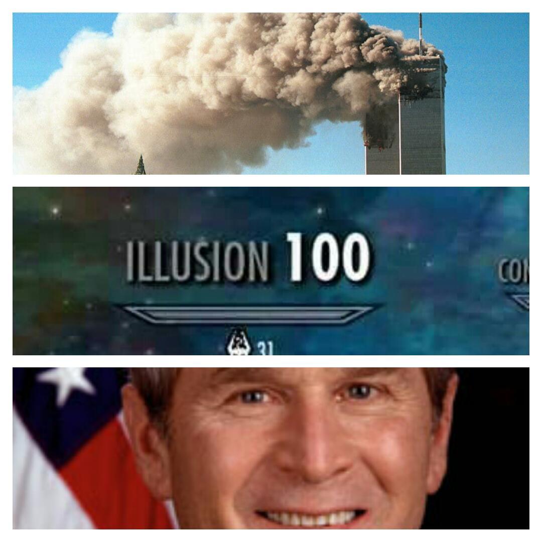 Bush Did 9 11 Skyrim Skill Tree Know Your Meme