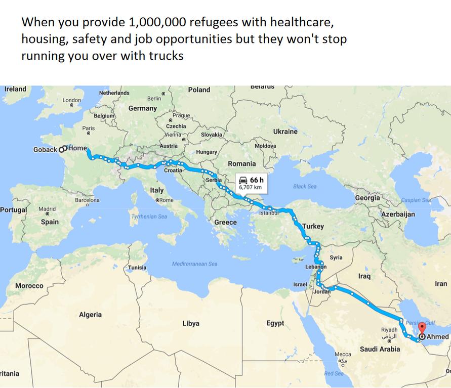Go Back Ahmed | Google Maps Parodies | Know Your Meme