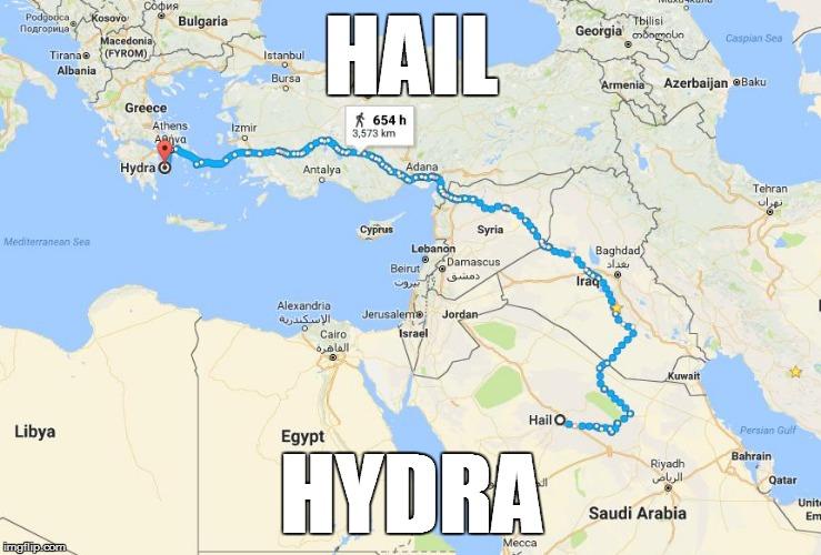 Hail hydra google maps parodies know your meme hail bulgaria georgia acedoni caspian sea tiranae fyrom stanbul albania bursa 0 enia azerbaijan gumiabroncs Gallery