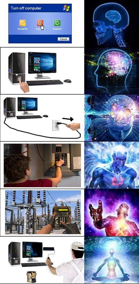 turn off computer stand ty restart