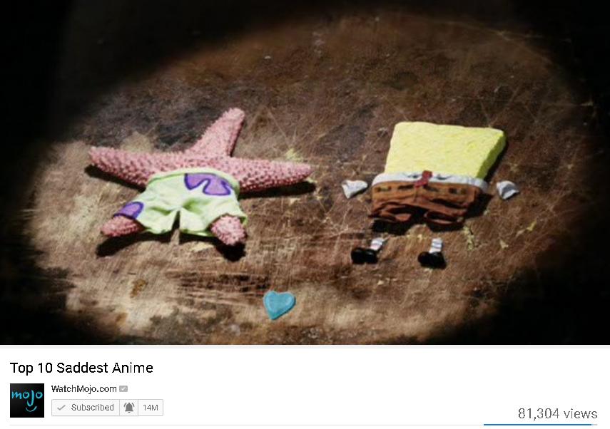 soo sad   Top 10 Anime List Parodies   Know Your Meme