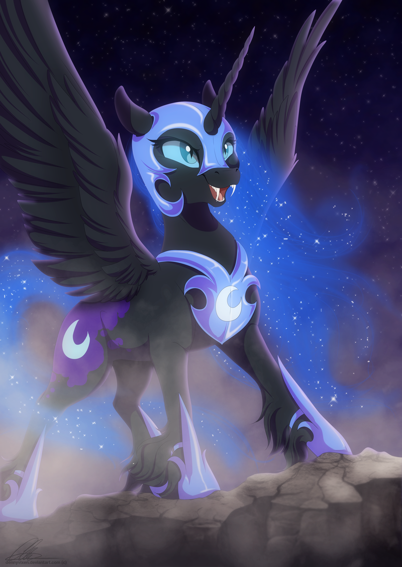 nightmare moon by dennyvixen my little pony friendship is magic
