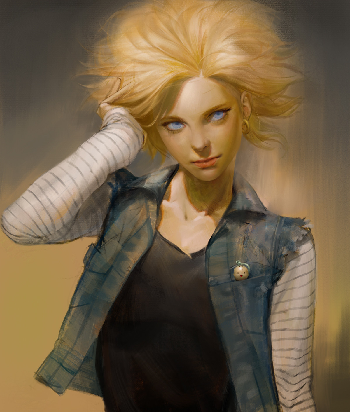 Android 18 By Sangsoo Jeong Dragon Ball Know Your Meme