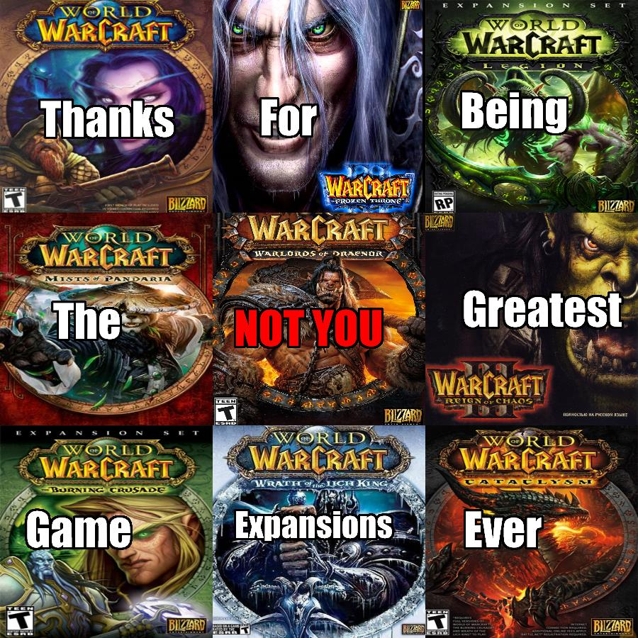 wow expansions not you tú no know your meme