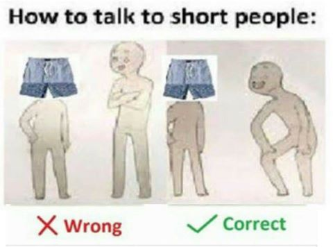 What Is Correct Way To Talk About >> How To Talk To Short People How To Talk To Short People Know